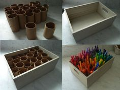DIY Marker Organizer - Maybe for needles and hooks in my case # . - Organisation im Studio - Welcome Crafts Crafts For Kids, Arts And Crafts, Diy Crafts, Fall Crafts, Rangement Art, Paint Organization, Organization Ideas, Ikea Office Organization, Board Game Organization