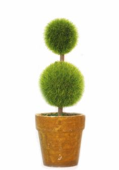St Can Choose -Home Decoration Flowerpot Artificial Plants Topiary Tree Mini Flocking Crafts-a (No.3 Green) -- Be sure to check out this awesome product.