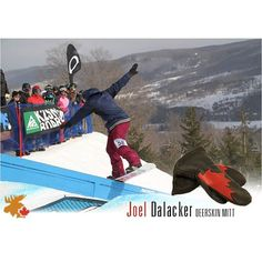 Here is our Joel Dalacker Gauntlet Mitt being put into action by the snowboarder himself! Thank you Joel! #leather #Canada #handmade #Rockwood #Ontario #like #daily #fashion #HidesInHand