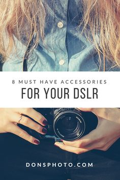 Whether you've just got yourself a Canon DSLR like the Canon EOS Rebel T6, Nikon D3400, or a Pentax K-50 or have owned one for a while, the camera and the bundled 18-55mm kit lens it just the start.  Here are 8 accessories to take your camera and your photography to the next level.