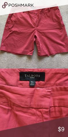 Talbots shorts Size 18W Salmon color, excellent condition Talbots Shorts