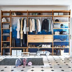 Clothes Storage Solutions, Clothing Storage, Home Decor Furniture, Open Shelving, Wardrobes, Studio, Wardrobe Rack, Kiefer, Room