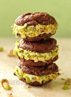 Chocolate-Pistachio Sandwich Cookies