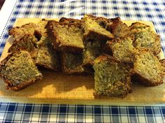 Home made Banana Bread  - ready for our guests, served warm yummy..
