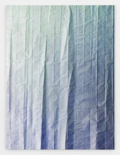 Tauba Auerbach - Untitled (Fold), 2012, acrylic on canvas