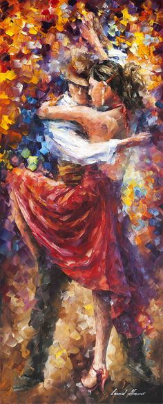"""Tango of Movement"" by Leonid Afremov ___________________________ Click on the…"