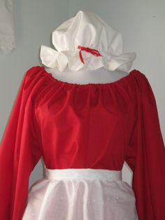 Ladies Mrs Claus Christmas Costume Dress Red Santa by countrybarn