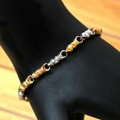 Conch Steel n Gold Bracelet : Steel Bracelets