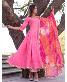*Summer special 😎* *comes with 3 🌈 colours* *TOP -beautiful 🥀cambric cotton fabric😍* Plazo :- cambric cotton *DUPATTA :- cotton with beautiful🤷♀ gold lace* Size:- Xxl. Pakistani Dresses Casual, Indian Gowns Dresses, Indian Fashion Dresses, Dress Indian Style, Pakistani Dress Design, Indian Outfits, Ethnic Fashion, Pakistani Gharara, Pakistani Culture