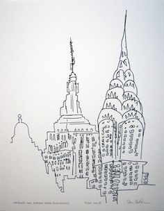 I've been absolutely in love with this print for the longest time. Chrysler and Empire State Buildings. $23.00, via Etsy.