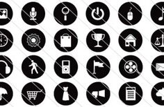 160 Flat Vector Icon Silhouette