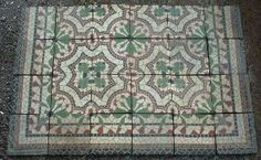 cement tiles (?), 17 x 17 cm, Germany