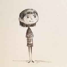 Sketching in pencil. #girl #sketch #sketchbook #blackwing #pencilandpaper #pencildrawing
