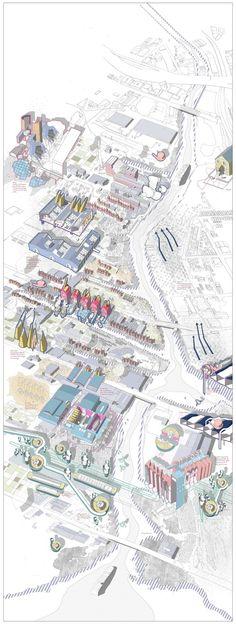 Architecture Panel, Masterplan Architecture, Architecture Graphics, Architecture Design, Architecture Sketchbook, Building Architecture, Architecture Portfolio, Concept Architecture, Gothic Architecture