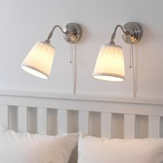 Paint Shades, Fabric Shades, Wall Lamp Shades, Ikea Wall Lights, Bedside Wall Lights, Wall Sconces, Clear Light Bulbs, Bedside Lighting, Led Lampe