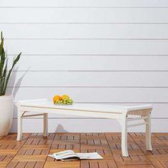 Havenside Home Surfside Cochran White Outdoor Wood Bench (White) Patio Bench, Patio Chairs, Patio Dining, Dining Chair, Outdoor Lounge Furniture, Outdoor Decor, Rustic Furniture, Garden In The Woods, Furniture For Small Spaces
