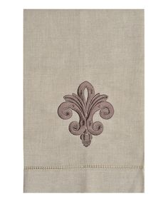 Take a look at this Fleur-de-Lis Embroidered Linen Hand Towel on zulily today!