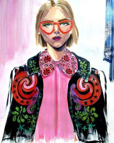 « The funkiness of @studio_fulton SS16✌✌ #fashionillustration #painting #illustration #spring2016 #hollyfulton »