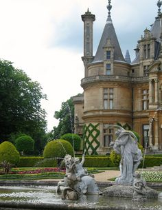 Waddesdon Manor, Buckinghamshire, England         The gardens have been set out in the style of the late 19th century.