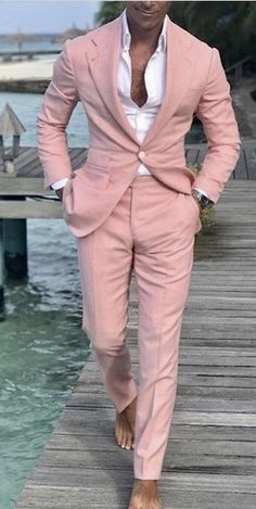 Mens Suit Slim Fit Tuxedo Prom Wedding Blazer Style Gentle Tailor Made 2 Piece Terno Mens Suit Slim Fit Tuxedo Prom Wedding Blazer Style Gentle Tailor Made – menstights Mens Fashion Suits, Blazer Fashion, Mens Suits Style, Fashion Shirts, Mode Masculine, Pink Suit Men, Terno Casual, Dress Casual, Terno Slim Fit