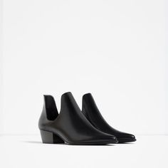 Image 2 of OPEN ANKLE BOOTS WITH HEEL from Zara