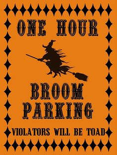 One Hour Broom Parking (all others will be Toad)