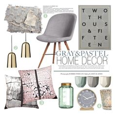 """""""GRAY&PASTEL home decor"""" by punnky-interiors ❤ liked on Polyvore featuring interior, interiors, interior design, home, home decor, interior decorating, H&M and Crate and Barrel"""