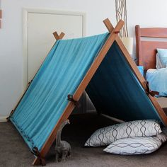 Awesome upcycled play tent tutorial - Blah Blah Magazine - a lifestyle
