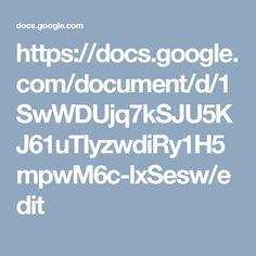 https://docs.google.com/document/d/1SwWDUjq7kSJU5KJ61uTIyzwdiRy1H5mpwM6c-lxSesw/edit