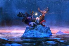It's that time of year again- this season's Christmas card collection, illustrated by Sebastian McKinnon and narrated by Liam McKinnon,. Fantasy Paintings, Fantasy Artwork, A Christmas Story, Christmas Art, Berlin, Manga, Art Sketches, Fairy Tales, Illustration Art