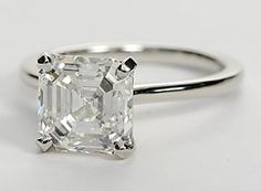 Elegant in its simplicity, this petite solitaire crafted in platinum is a beautifully classic frame for your choice of center diamond.