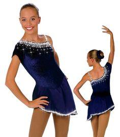 one-shoulder asymmetrical skating dress