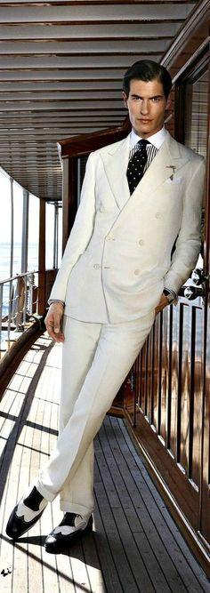 Mariage: avec quoi porter un costume blanc? - Magazine Avantages Estilo Fashion, Fashion Moda, Ideias Fashion, Mens Fashion, Suit Fashion, Sharp Dressed Man, Well Dressed Men, Costume Beige, Costume Blanc