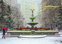 Mould Fountain NYC Regional Holiday Card