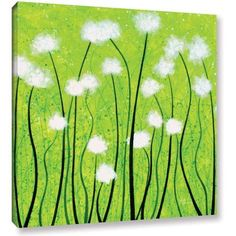 Herb Dickinson Fuzzy Feeling Gallery-Wrapped Canvas, Size: 24 x 24, White