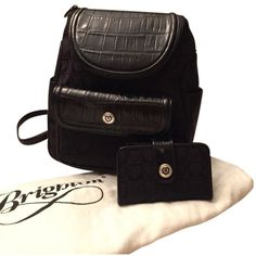 Pre-owned Black Brighton Backpack ($113) ❤ liked on Polyvore