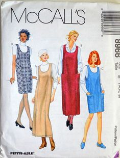 Uncut 1990s McCall's Vintage Sewing Pattern by postandbeamvntg