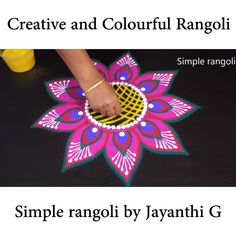 Welcome to My channel Simple rangoli. Rangoli Designs Simple Diwali, Rangoli Simple, Indian Rangoli Designs, Rangoli Designs Latest, Rangoli Designs Flower, Free Hand Rangoli Design, Rangoli Border Designs, Small Rangoli Design, Rangoli Patterns