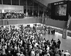 Crowd Watches Apollo 11 Moon Landing at Kennedy Airport, NYC - July 20, 1969