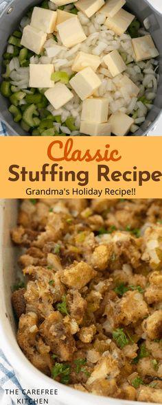 Grandma's Thanksgiving Stuffing Recipe {Video}