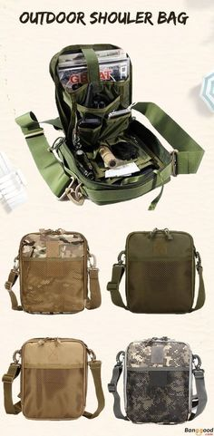 US$18.92 + Free Shipping. Men Crossbody Bag, Nylon Bag, Sport Bag, Outdoor Shoulder Bag, Tactical Bag, Army Pack, Tactical Bag. Color: Army Green, Mud, Black, CP, ACU. Material: Nylon. Perfect Pack for Hiking or a Zombie Apocalypse.