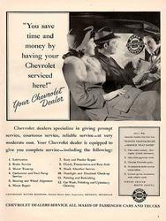 1941 Chevy Chevrolet Dealer Service Original Car Print Ad