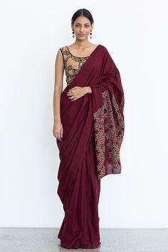 Frangipani: Handrafted Batik Saree - Immediate Shipping- Order Now