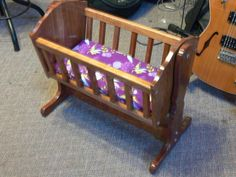 Child S Wooden Rocker Rocking Chair W Baby Doll Cradle