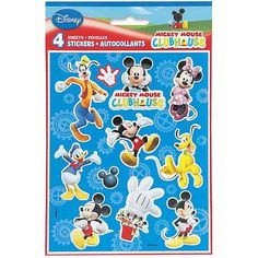 Mickey Mouse Sticker Sheets, 4pk  $2