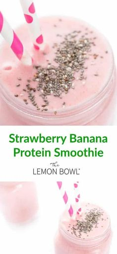 My delicious, filling Strawberry Banana Protein Smoothie makes the perfect breakfast! #smoothies #Protein #breakfast Protein Smoothies, Apple Smoothies, Healthy Breakfast Smoothies, Protein Breakfast, Morning Breakfast, Smoothie Detox Plan, Diet Smoothie Recipes, Smoothie Prep, Protein Shakes
