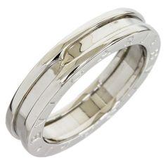 preowned bulgari bzero1 18k white gold band ring size 725 797