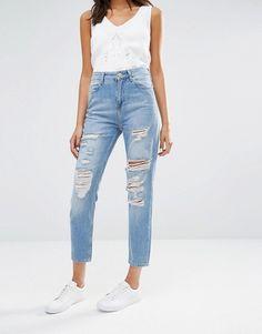 River Island | Рваные джинсы в винтажном стиле River Island