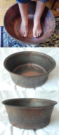 Who wouldn't want a nice foot soak after a long day at work? This copper bowl could be the start to a relaxing evening!