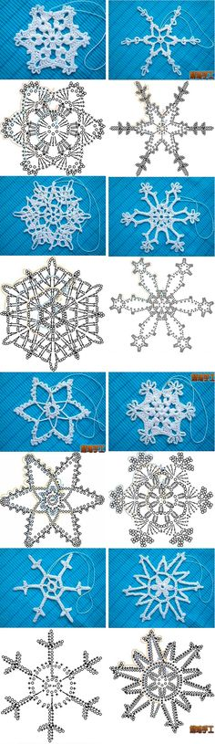 con ganchillo: Copos de nieve Flocs de neu, patronsThe Con The Con may refer to: Crochet Snowflake Pattern, Christmas Crochet Patterns, Holiday Crochet, Crochet Snowflakes, Crochet Mandala, Doily Patterns, Crochet Motif, Crochet Flowers, Crochet Stitches